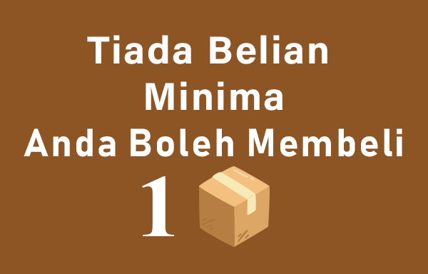 minimum minima buy belian kotak boxes