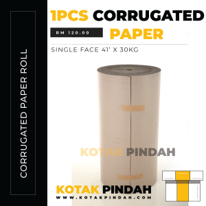 Corrugated Paper Roll – Single Face 41′ x 30 KG